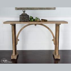 Uttermost Natural Wood Genessis Reclaimed Wood Console Table