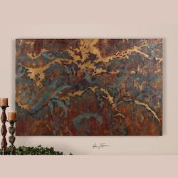 Uttermost Hand Painted Oil On Canvas Stormy Night Depiction Art Piece