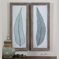 Uttermost Tall Leaves Wall Art