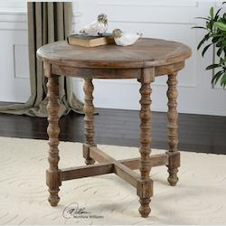 Uttermost Wood Samuelle 26In.W Reclaimed Fir Accent Table