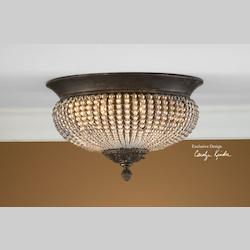 Uttermost 2 Light Flushmount Ceiling Fixture From The Lisbon Collection