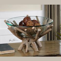 Uttermost Wood Thoro Natural Wood Bowl