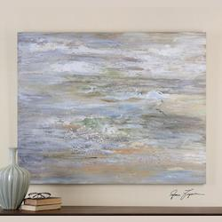 Uttermost Artwork Reproduction Misty Morning Abstract Hand Painted Art