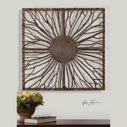 Uttermost Natural Wood Josiah Square Wall Art
