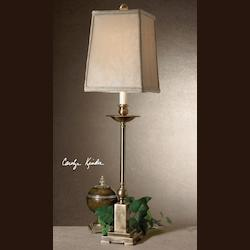 Uttermost Light Aged Bronze Finish Lowell Buffet Lamp