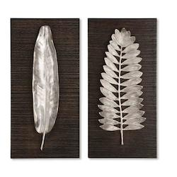 Uttermost Silver Leaves Set Of 2