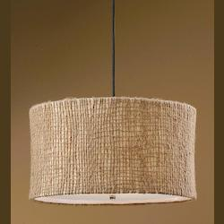 Uttermost 3 Light Pendant With Natural Twine Shade From The Burleson Collection