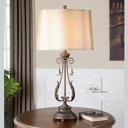 Uttermost Distressed Oil Rubbed Bronze Cassia 1 Light Table Lamp