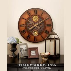 Uttermost Weathered Laminated Wall Clock