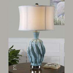 Uttermost Distressed Blue Amoroso Table Lamp
