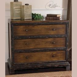 Uttermost Honey Brown Rishi Three Drawer Chest
