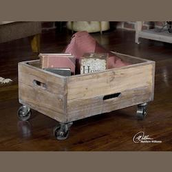 Uttermost Natural Wood Stratford Rolling Box