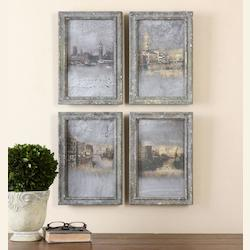 Uttermost Artwork Reproduction Venetian Views Antiqued Wall Art, Set Of Four
