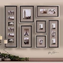 Uttermost Antique Silver Leaf Massena Photo Collage Set Of 7 Wall Art