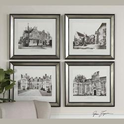 Uttermost Artwork Reproduction English Cottage I Ii Iii Iv Set Of 4 Wall Art