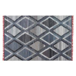 Uttermost Blue / Denim / Red 5 X 8 Area Rug
