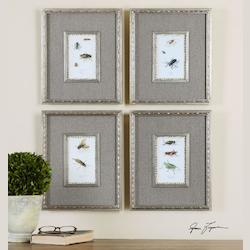 Uttermost Artwork Reproduction Insect Study Framed Wall Art, Set Of Four