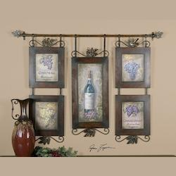 Uttermost Purple, Gray, Brown Hanging Wine
