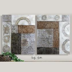 Uttermost Artwork Reproduction Connection I Ii  Set Of 2 Wall Art
