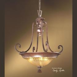 Uttermost Distressed Spice 3 Light Bowl Pendant From The Elba Collection