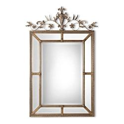 Uttermost B Silver And Dark Gray Wash Le Vau Ornate Beveled Mirror