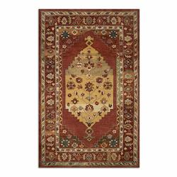 Uttermost Dark Red Taupe Charcoal Green Lavender 5 X 8 Estelle Wool Rug