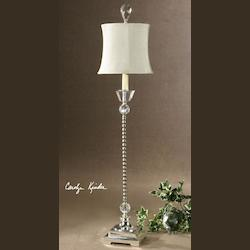 Uttermost Silver Plated With Crystal Accents Sherise Buffet Lamp