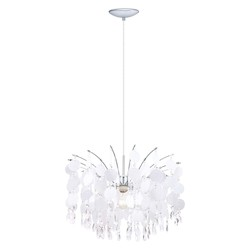 Eglo Chrome Fedra 1 Light 1 Tier Crystal Chandelier