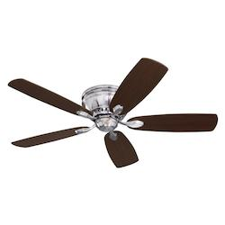 Emerson Fans Open Box Brushed Steel Prima Snugger 52in. 5 Blade Ceiling Fan - Blades Included