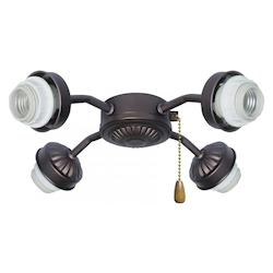 Emerson Fans Four Light Barbeque Black Fan Light Kit