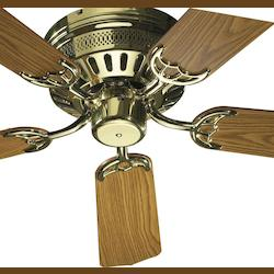 Quorum Polished Brass Hugger Ceiling Fan