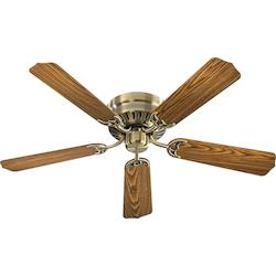 Quorum Antique Brass Hugger Ceiling Fan