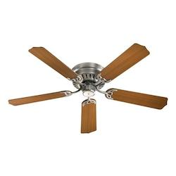 Quorum Satin Nickel Hugger Ceiling Fan
