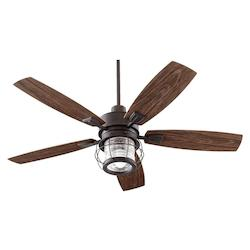 Quorum One Light Toasted Sienna Outdoor Fan