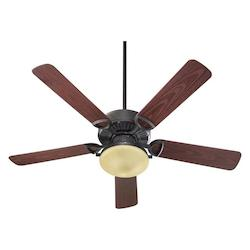 Quorum Two Light Toasted Sienna Outdoor Fan