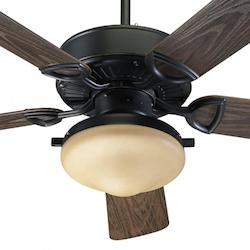 Quorum Two Light Old World Outdoor Fan