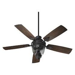 Quorum Three Light Toasted Sienna Outdoor Fan