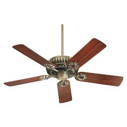 Quorum Antique Brass Ceiling Fan