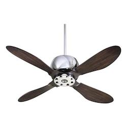 Open Box One Light Chrome Ceiling Fan