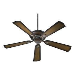 Quorum Mystic Silver With Pecan Ceiling Fan