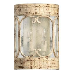 Quorum Two Light Persian White Wall Light