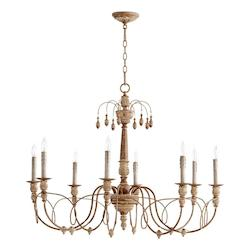 Open Box Eight Light French Umber Up Chandelier