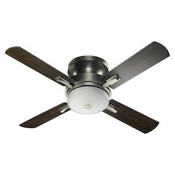 Quorum Three Light Antique Silver Hugger Ceiling Fan