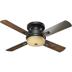 Quorum Three Light Old World Hugger Ceiling Fan