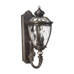 Quorum Five Light Baltic Granite Clear Glass Wall Lantern