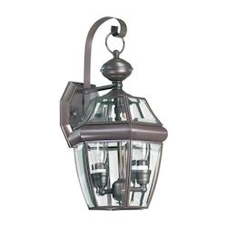 Quorum Two Light Bronze Wall Lantern