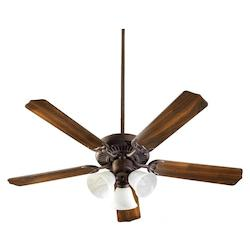 Quorum Three Light Toasted Sienna Fan Motor Without Blades