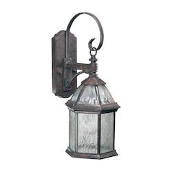 Quorum One Light Baltic Granite Clear Glass Wall Lantern