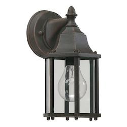 Quorum One Light Rust Wall Lantern