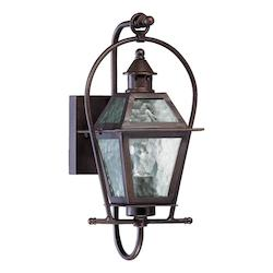 Quorum One Light Oiled Bronze Clear Hurricane Glass Wall Lantern